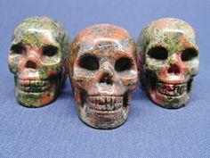 Unakite Jasper Crystal Skull Heart Chakra Healing Wicca Unusual Gift Present