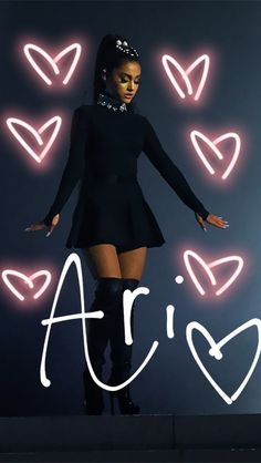Ari in the blak☺👤 Ariana Grande Outfits, Ariana Grande Fotos, Bae, Photo Star, Dangerous Woman Tour, Ariana Grande Wallpaper, Broadway, Star Wars, Role Models