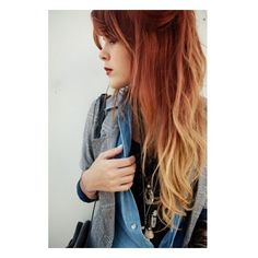 Red Ombre Hair Colors Renewed Style ❤ liked on Polyvore