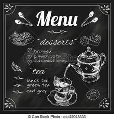 「カフェメニュー  tea 黒板」の画像検索結果
