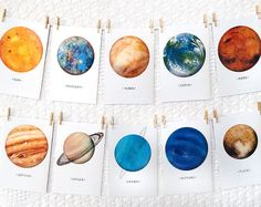 Space • Solar System • Planet • A5 Art Prints