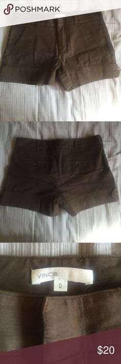 Vince Brown Shorts Cute brown Vince shorts! Great for the summer. In good condition. Size 0 Vince Shorts