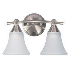 Canarm IVL221A02BPT Grace 2 Vanity Light In Brushed Pewter With White Flat Opal Glass is made by the brand Canarm. It has a part number of IVL221A02BPT.