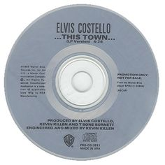 "For Sale -Elvis Costello This Town USA Promo  CD single (CD5 / 5"")- See this and 250,000 other rare and vintage records & CDs at http://eil.com/"