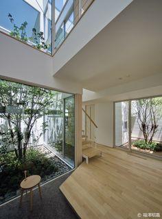 cohesive home decor House Design, Backyard Design, House Landscape, Dream Decor, Japanese Architect, Ideal Home, Contemporary House Design, Natural Interior, Indoor Outdoor Living