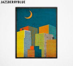 GICLEE Fine Art Print 13x16 QUIET Modern Urban by JazzberryBlue, $30.00