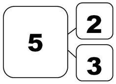Number Bond / Math Triangle / Tape Diagram Part Part Whole