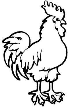 rooster free printable coloring pages - Free Printable Pictures Of Animals