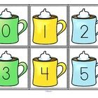 FREE  This is a set of large flash cards, numbers 0-20, with a hot cocoa/winter theme.  Print on card, laminate if desired, and cut out cards.  Use...