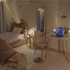 12 Unique Bonus Room Ideas for Your Home - Site Home Design Room Ideas Bedroom, Small Room Bedroom, Home Bedroom, Bedroom Decor, Bedrooms, Korean Bedroom Ideas, Small Modern Bedroom, Study Room Decor, Bedroom Inspo