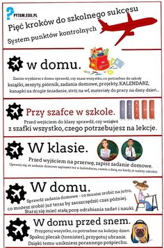 Pięć podstawowych kroków do sukcesu szkolnego Study Desk Organization, School Organization, Education College, Special Education, Education Week, Study Skills, Study Tips, English Posters, Effective Learning