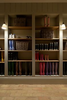 Sims Hilditch - Cotswold Manor House love these for the boot room and lights Built Ins, Laundry Mud Room, Home, Boot Room, House Design, Finishing Basement, Utility Rooms, Room, Mudroom