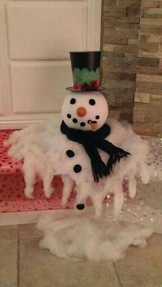 melted snowman Christmas decor