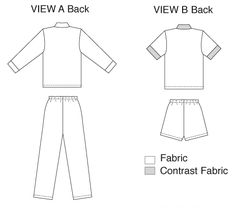 Kwik Sew Sewing Pattern Misses' Button-Down Pajamas Kwik Sew Patterns, Pull On Pants, Woven Fabric, Button Downs, Short Sleeves, Pajamas, Buttons, Diy, Pjs