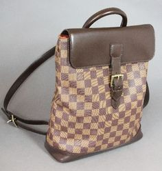"""Louis Vouitton model """"BACKPACK EXCELENT"""" chic backpack bag.  Damier canvas. LIKE NEW! - Price: 660 EUR"""