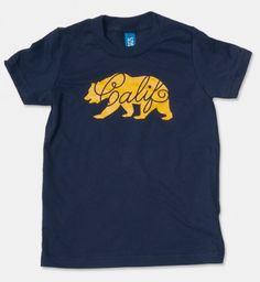 Toddler Calif Bear Navy. www.therethere.com