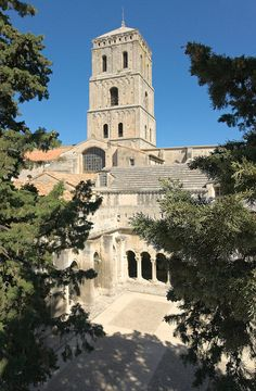 Medieval Tower of the Cloister of St. Trophime, Arles, France