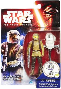 Star Wars The Force Awakens Resistance Trooper 3 3/4 Inch Figure Fight alongside the Resistance with the Resistance Trooper! Each figure from the Force Awakens line includes accessories and a build a