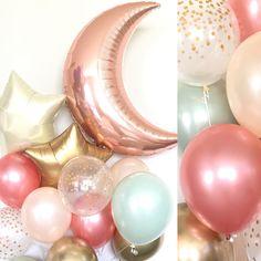 Twinkle Little Star Sage Rose Gold Balloons Twinkle Little Star Baby Shower Pastel Balloons, Rose Gold Balloons, Mylar Balloons, Baby Shower Balloons, Balloon Decorations Party, Baby Shower Decorations, Balloon Ideas, Green Bridal Showers, Balloon Lights