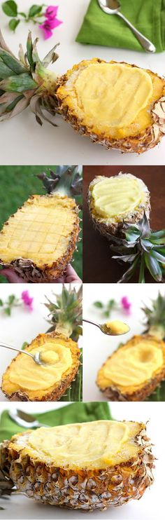 PINEAPPLE SORBET - It's refreshing, tasty, and most importantly non-fat.