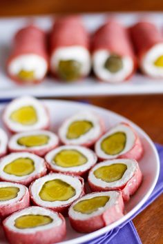 Pickle Wraps Party Appetizer -- one of the most delicious combinations you'll ever try AND it's super easy to make... Pickle roll-ups for the win!