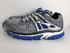 BROOKS BEAST 14 BEAUTIFUL BLUE & SILVER MENS USED RUNNING ATHLETIC SHOES SZ 8.5  | eBay