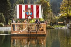 """Pirate raft """"Molly"""" at our private natural lake at Falkensteiner Family Hotel Lido Ehrenburgerhof Winter Holidays, Rafting, Fair Grounds, Natural, Places, Travel, Winter Vacations, Summer Recipes, Lugares"""