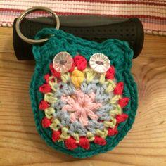 Crochet Owl Key chain Key Chain, Straw Bag, Owl, Blanket, Crochet, Projects, Bags, Log Projects, Handbags