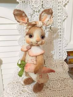 Patterns bunny and chanterelle Stuffed Animal Patterns, Diy Stuffed Animals, Teddy Beer, Rabbit Art, Fabric Toys, Patriotic Decorations, Sewing Toys, Soft Sculpture, Cold Porcelain