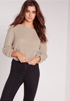 Step into the new season with this super cosy crew neck jumper. In a dreamy nude shade, with long sleeves and chunky knit style we're totally day dreamin' over this beaut! Team up with jeans, trainers and waterfall coat for blogger style vi...
