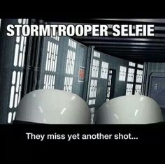 Funny pictures about Stormtrooper Selfie. Oh, and cool pics about Stormtrooper Selfie. Also, Stormtrooper Selfie photos. Starwars, Star Wars Meme, Star Trek, Dark Vader, Memes Marvel, Stormtrooper, Dc Movies, Iconic Movies, Movie Characters