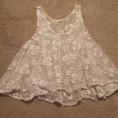 Lace tank top White crochet lace tank top. Super cute for summer and in great condition! Tops Tank Tops