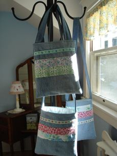 tote bags with denim