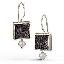 Square Black Tourmaline Earrings by Danielle Miller (Silver & Stone Earrings)