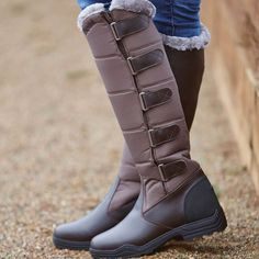 The Brogini Forte Winter Long Boots are designed for cold winter conditions and are inner faux fur lined to aid warmth and circulation. Forte boots feature five velcro straps to guarantee a snug fit to your leg. Long Winter Boots, Long Boots, Riding Gear, Riding Boots, Farm Fashion, Horse Supplies, Designer Boots, Equestrian, Calves