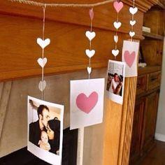 Vdayy idea Diy Garland, Heart Garland, Garland Ideas, Heart Banner, Garlands, Valentine's Day Diy, Valentines Ideas For Her, Valentines Day Decorations, Valentines Day Party