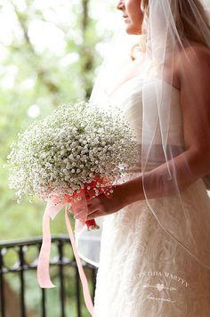Baby's Breath Bouquet: Fuscia Designs / Wedding Planning & Design: Cynthia Martyn Fine Events