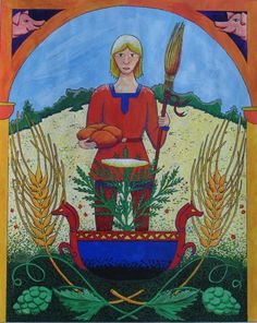 Byggvir is the Norse God of Barley and his wife Beyla is said to do things with … – Norse Mythology-Vikings-Tattoo Norse Religion, Viking Culture, Norse Mythology, Norse Pagan, Early Middle Ages, Viking Symbols, Asatru, American Gods, Viking Age