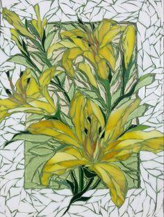 Ola Palacz mosaic    white grout with the white tiles ?