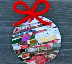 Recycled Christmas Ornaments - catalog ornaments