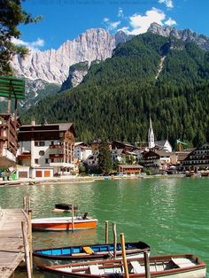Lago di Alleghe, Belluno, Italy. Very charming when it is frozen.
