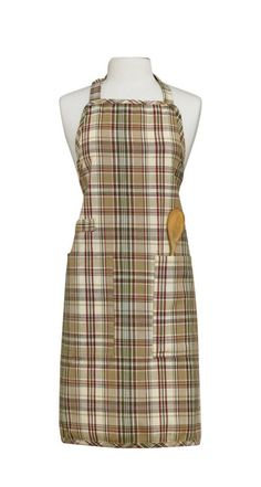 Thyme Apron from Park Designs. Butcher Shop, Plaid Fabric, Aprons, Dresses For Work, Farmers, Cotton, Pockets, Play, Shopping