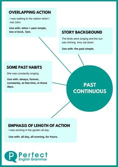 Past Continuous Infographic