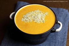 Qchenne-Inspiracje! Odchudzanie, dietoterapia, leczenie dietą: Tajsko przyprawiona zupa krem z marchewki, selera i sezamu! Wegańska i wegetariańska.