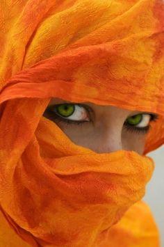 afghanistan.  Beautiful green eyes