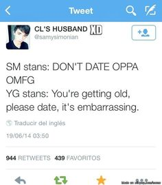 Nah YG stans are the same as SM stans