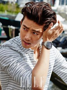 2PM's Taecyeon takes on the rugged outdoors in Vancouver for 'Elle'