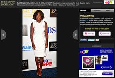 Viola Davis wearing HOL Vintage to the CBS Concert event