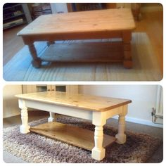 painted coffee table before after i used annie sloan chalk paint in duck egg paris gray. Black Bedroom Furniture Sets. Home Design Ideas