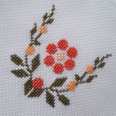 No photo description available. Cross Stitch Letters, Cross Stitch Bookmarks, Cross Stitch Rose, Cross Stitch Flowers, Hand Embroidery Videos, Hand Embroidery Designs, Cross Stitching, Cross Stitch Embroidery, Cross Stitch Designs